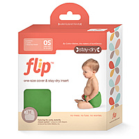 The new Flip diapering system from Bumgenius is totally, well, genius.  Each diaper comes with a waterproof cover and the option to stuff it with a super absorbant cloth insert OR a biodegradable disposable insert.  You can flip between cloth and earth-friendly paper at any time!  Genius.  These diapers will be available the end of October.